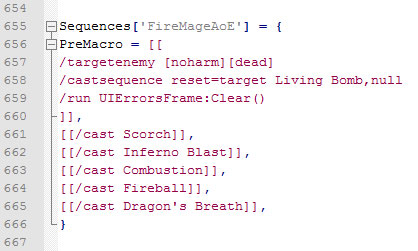 Fire Mage AoE Macro - Notepad Code