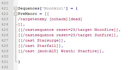 Moonkin GnomeSequencer Macro - Notepad Code